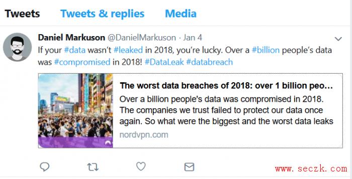 专家警告网络安全形势严峻:2018年度共计有10亿网民数据遭外泄