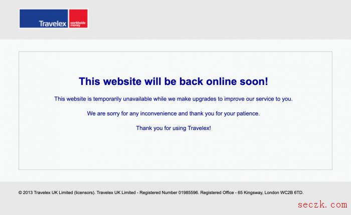 英国外汇兑换公司Travelex因遭到恶意软件攻击暂停服务
